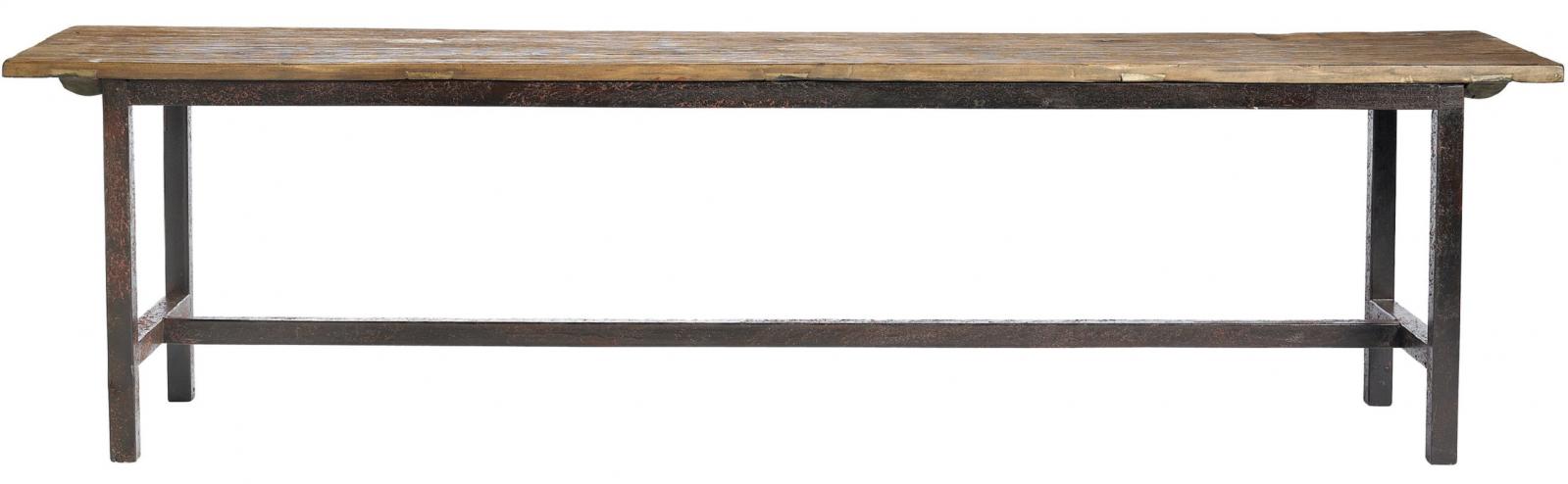 Nordal - Raw Bænk - Længde 100 cm - Natur - bænk