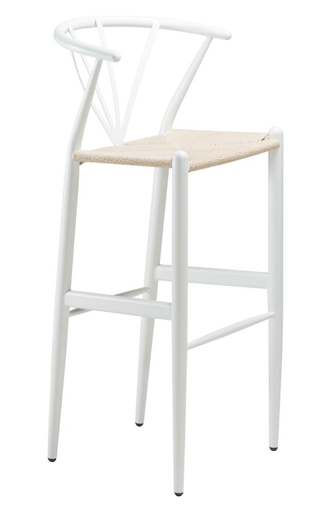 Danform - delta barstol - hvid m. natur sæde fra Dan-form på unoliving.com