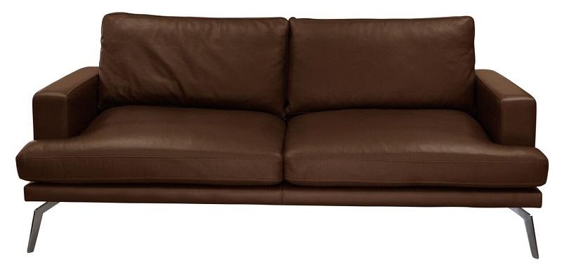 N/A Elliot 2-pers. sofa - mørk brun læder fra unoliving.com