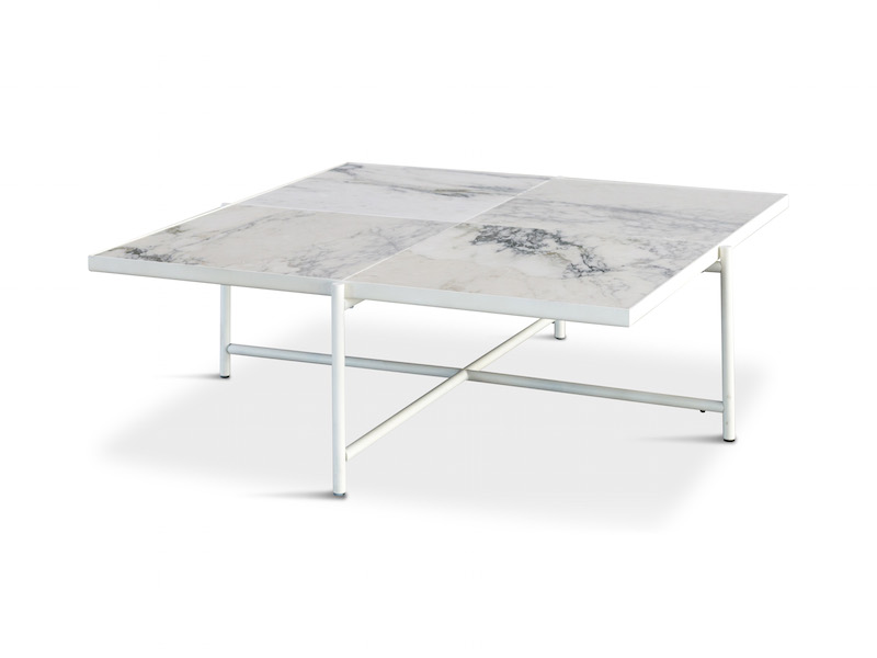 """Handvã""""rk Handvã""""rk - sofabord 92x92 - hvid marmor på unoliving.com"""