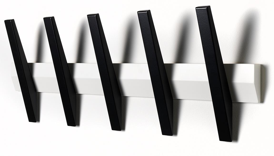 N/A Tangent 5  knagerække - hvid/sort fra unoliving.com