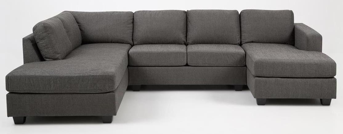 N/A Jill u-sofa - grå m. hvilemodul til venstre fra unoliving.com