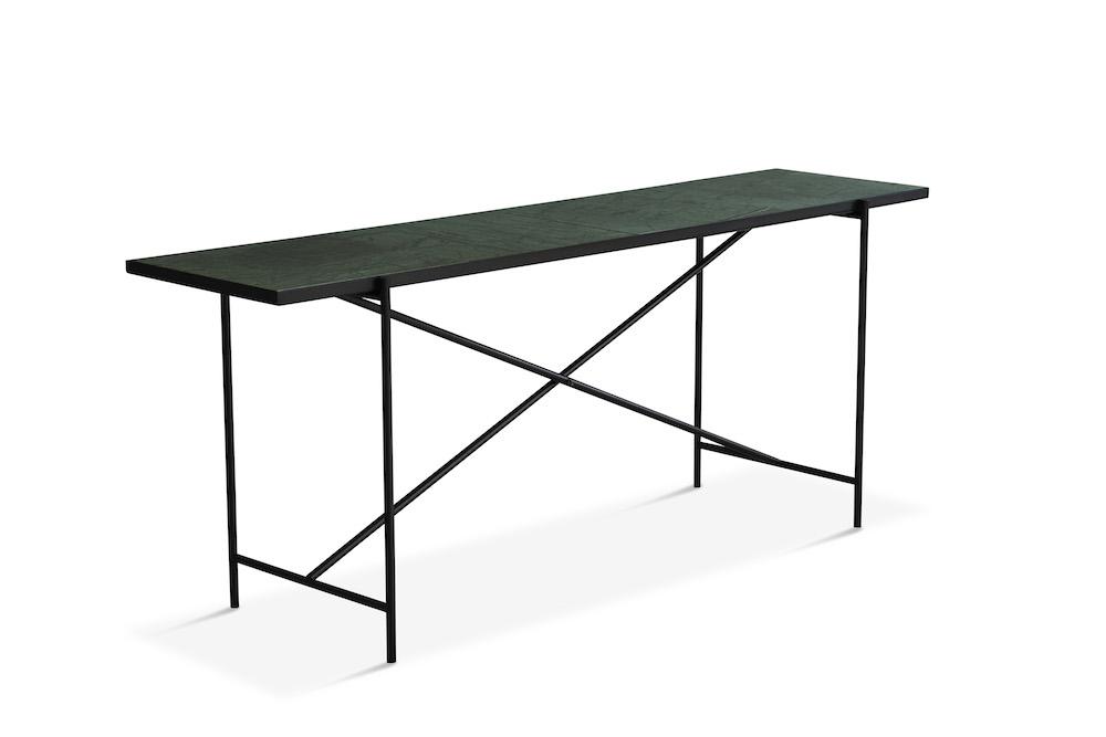 """Handvã""""rk - konsolbord 184x46 - grøn marmor, sort fra Handvã""""rk fra unoliving.com"""
