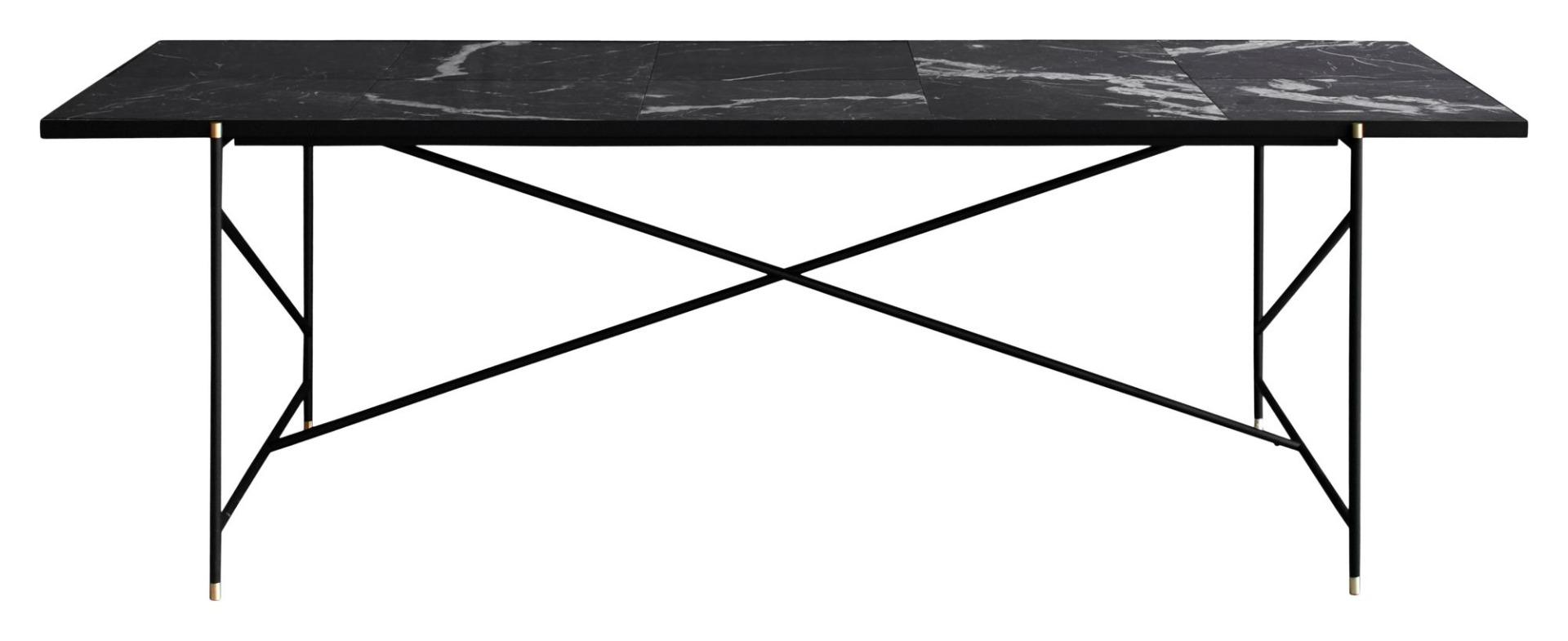 """Handvã""""rk Handvã""""rk - spisebord 230x94 - sort marmor, messing fra unoliving.com"""