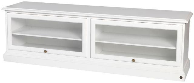 N/A – Donegal tv-bord - 185 cm - hvidmalet på unoliving.com