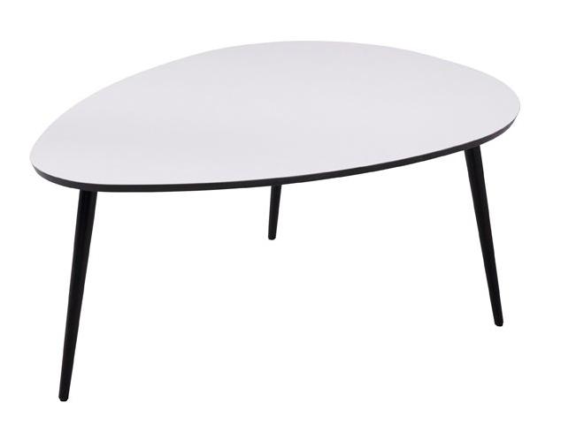 Dråben sofabord, large - hvid fra N/A fra unoliving.com