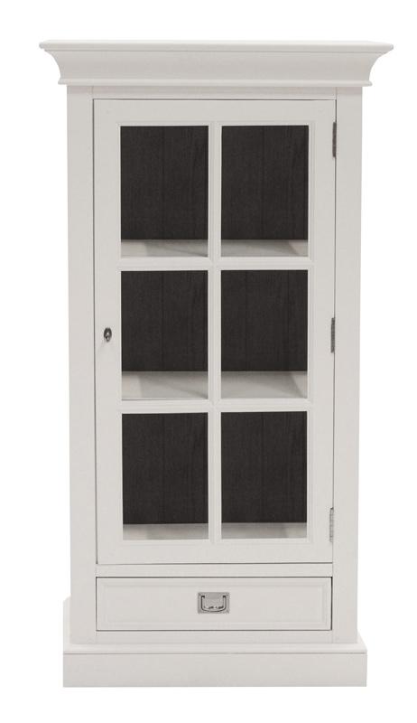 Hamptons lille vitrineskab - hvid og ege finér fra Canett fra unoliving.com