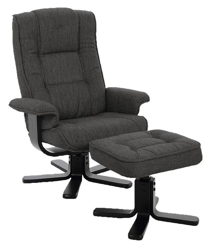 Alba hvilestol m. fodskammel - grå fra N/A fra unoliving.com