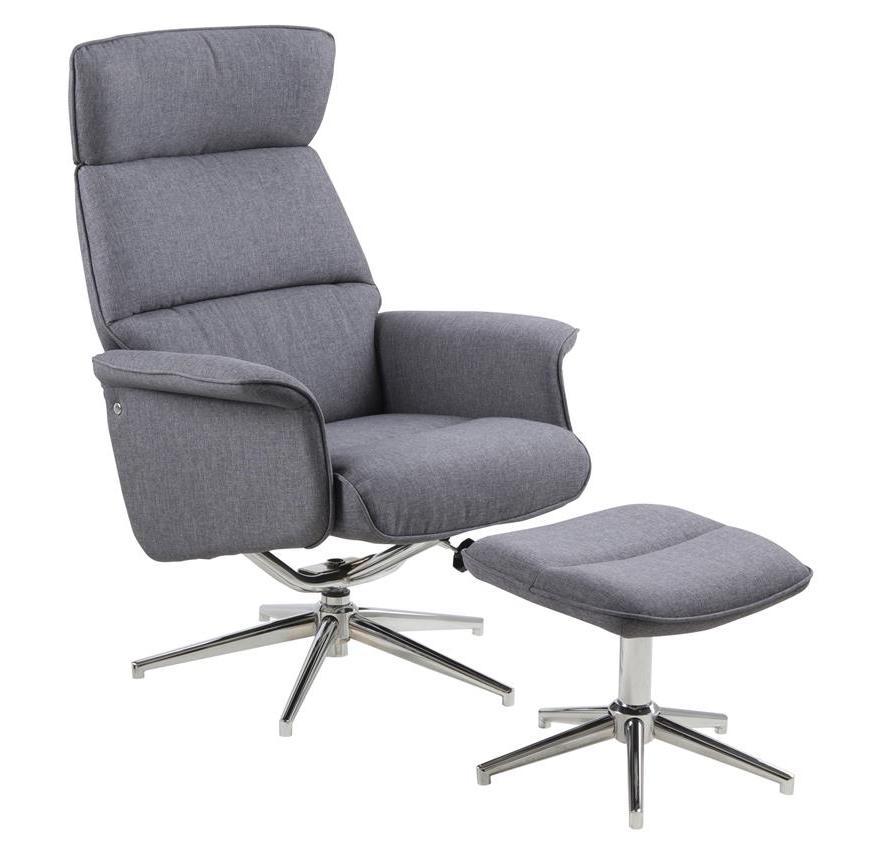 Merle hvilestol med skammel - grå fra N/A på unoliving.com