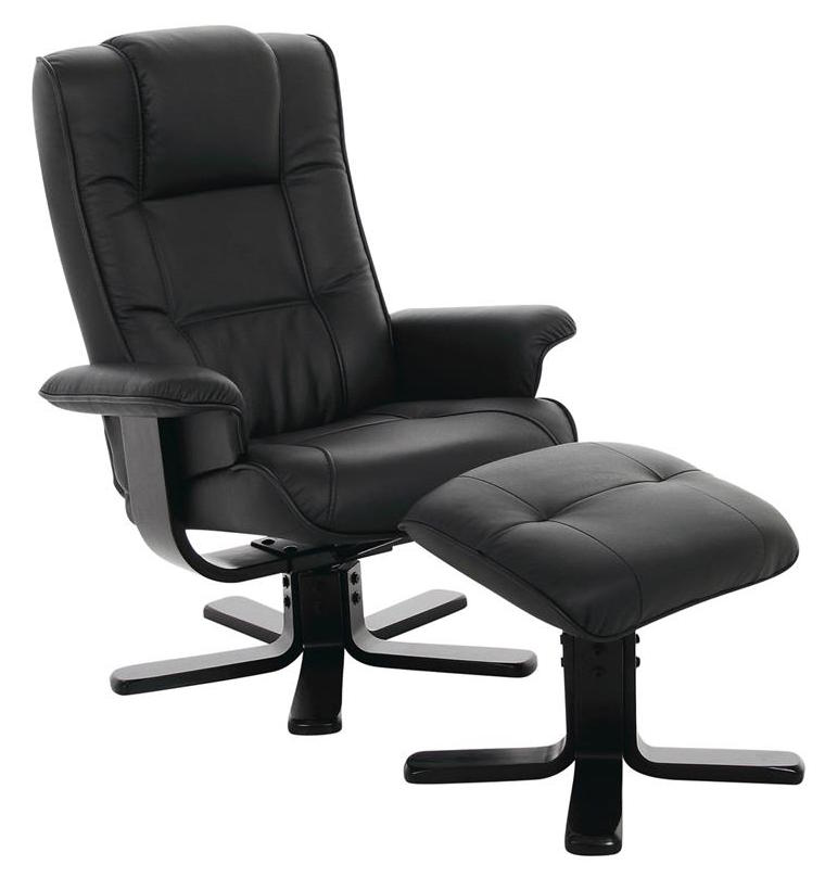 Alba hvilestol m. fodskammel - sort fra N/A på unoliving.com