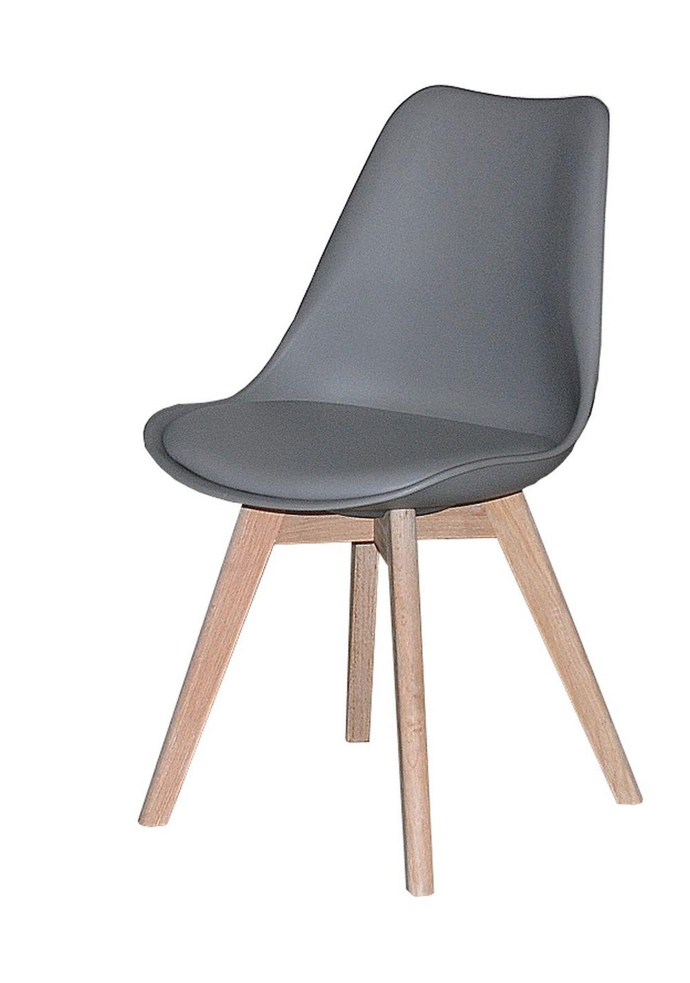 Jerry spisebordsstol m. gråt sæde fra N/A fra unoliving.com
