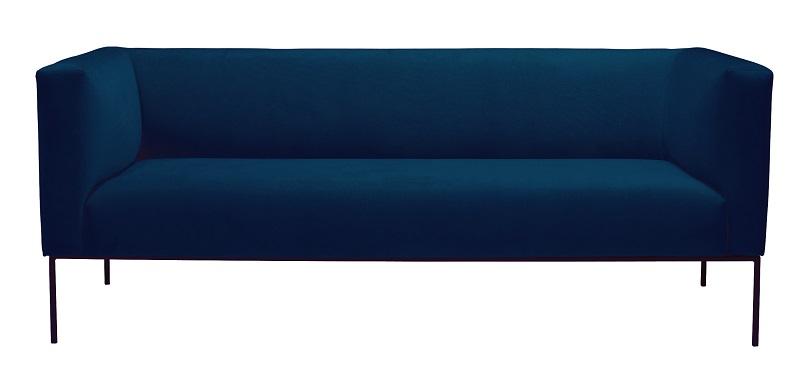 N/A Kaya 3-pers. sofa - blå velour fra unoliving.com