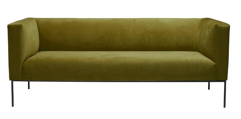 Kaya 3-pers. sofa - grøn velour fra N/A på unoliving.com