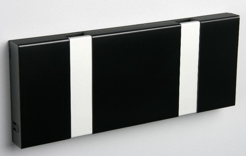 Knax knagerække - sort - 2 aluknager fra Knax fra unoliving.com