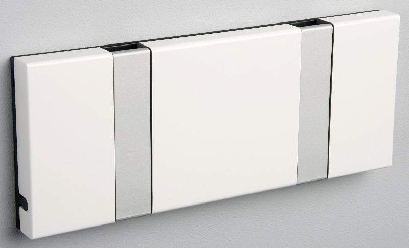 Knax Knax knagerække - hvid - 2 aluknager på unoliving.com