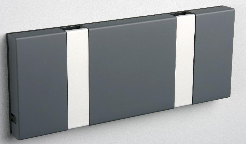 Knax Knax knagerække - antracit - 2 aluknager på unoliving.com