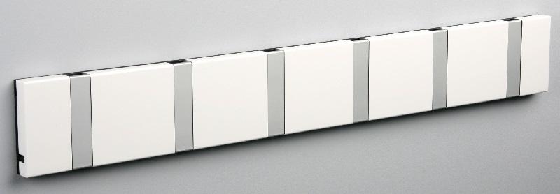 Knax – Knax knagerække - hvid - 6 aluknager på unoliving.com