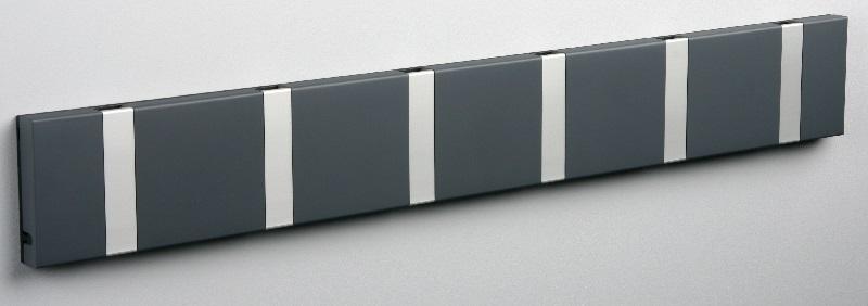 Knax – Knax knagerække - antracit - 6 aluknager på unoliving.com