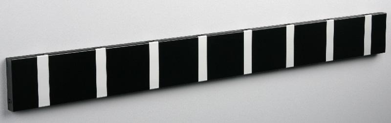 Knax – Knax knagerække - sort - 8 aluknager fra unoliving.com