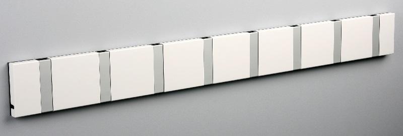 Knax Knax knagerække - hvid - 8 aluknager på unoliving.com