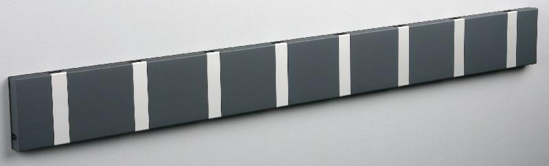 Knax Knax knagerække - antracit - 8 aluknager fra unoliving.com