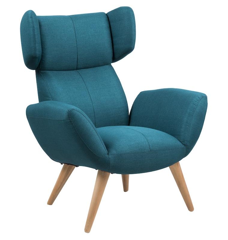 Arthur lænestol - blå fra N/A fra unoliving.com