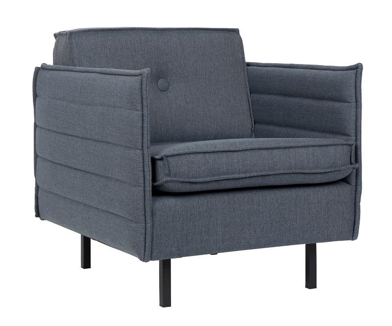 Zuiver Zuiver - jaey loungestol - blå stof fra unoliving.com