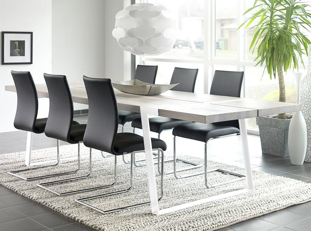 Canett – Rustic spisebord - 100x290 - hvidolieret eg på unoliving.com