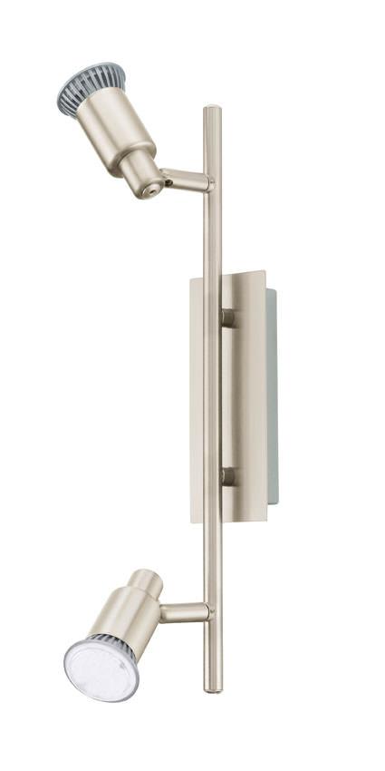 N/A Eridan led stål loftlampe m. 2 spots fra unoliving.com