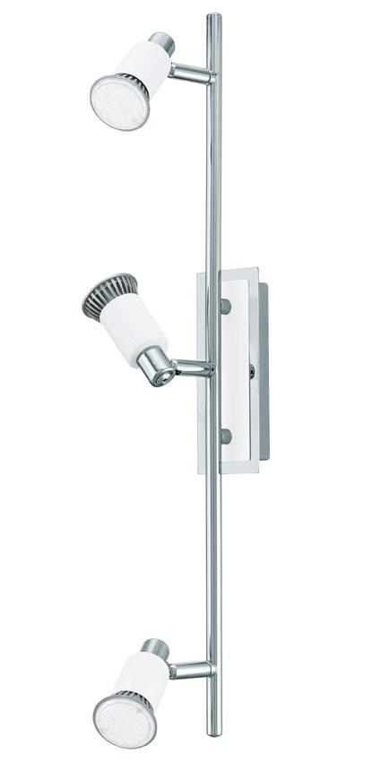 N/A – Eridan led stål loftlampe m. 3 spots - hvid fra unoliving.com