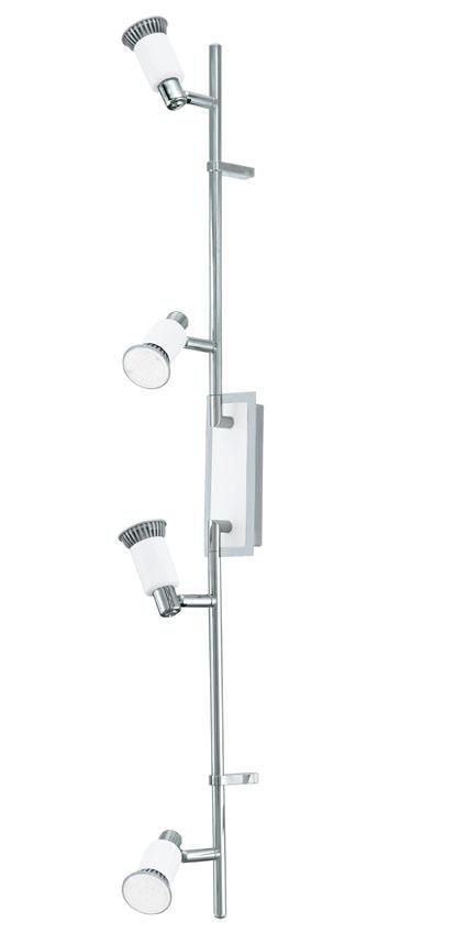 N/A – Eridan led stål loftlampe m. 4 spots - hvid på unoliving.com