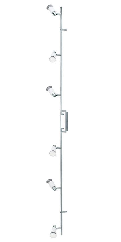 Eridan led stål loftlampe m. 6 spots - hvid fra N/A på unoliving.com