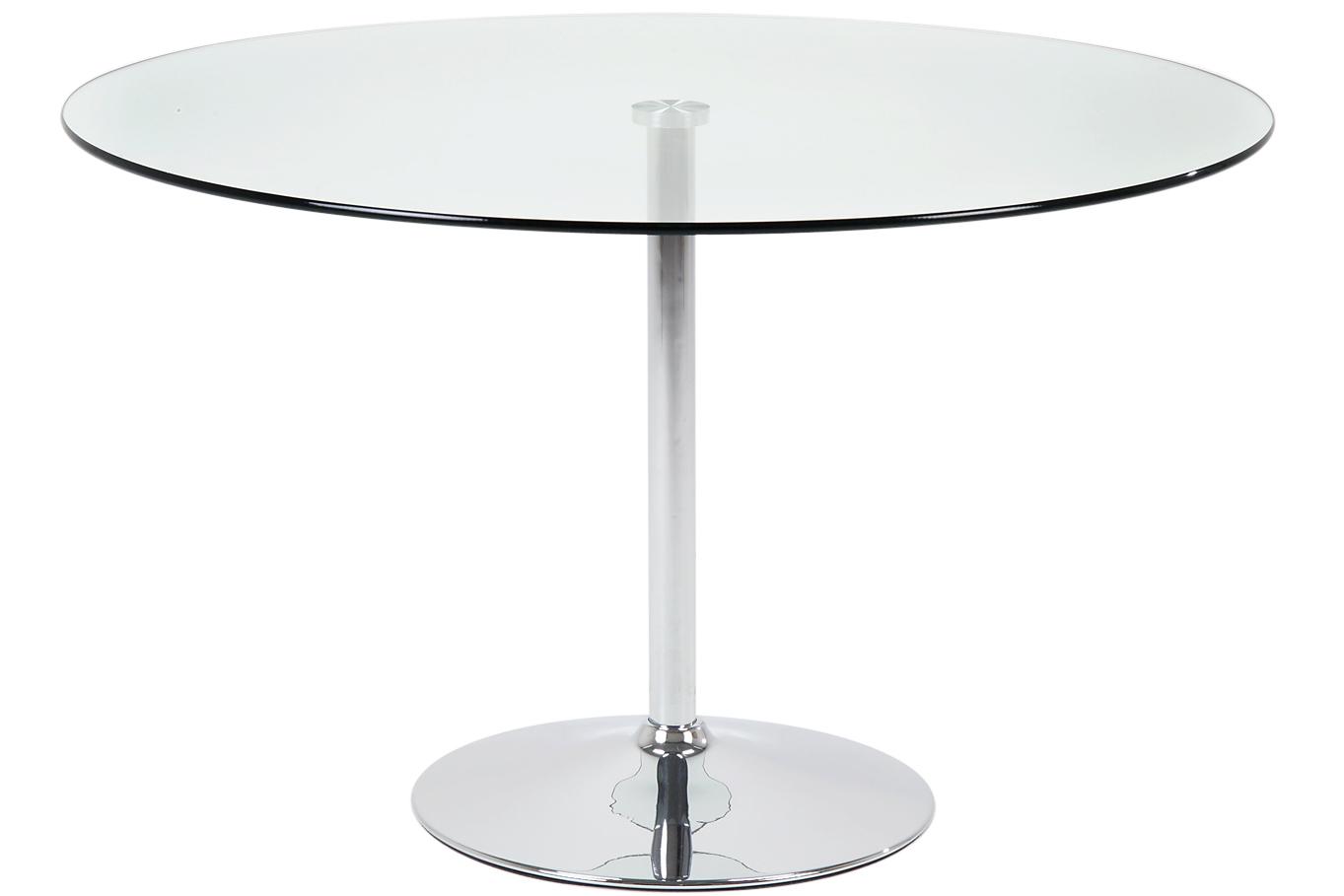 N/A – Lounge spisebord - glas - ø100 fra unoliving.com