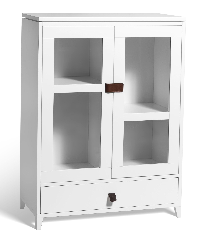 Mavis Mavis abisko vitrineskabe i lakeret hvid - lavt på unoliving.com