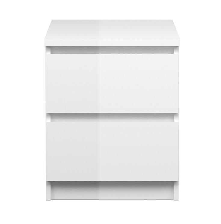Naia sengebord - hvid højglans fra N/A fra unoliving.com