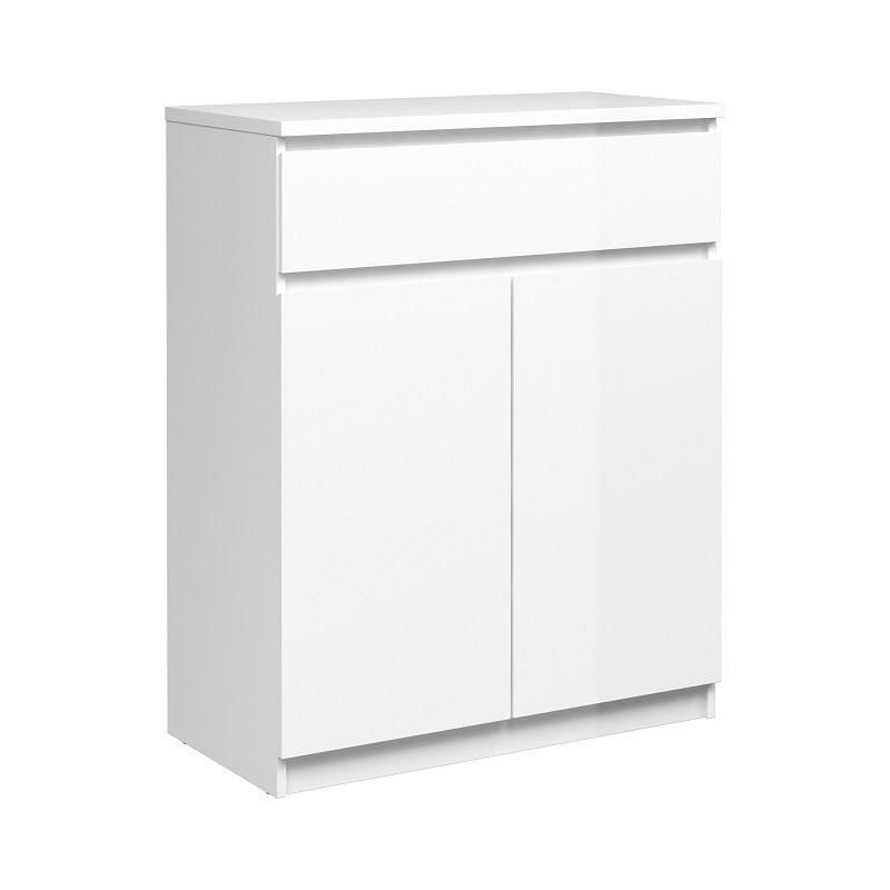 N/A – Naia skænk - hvid højglans fra unoliving.com