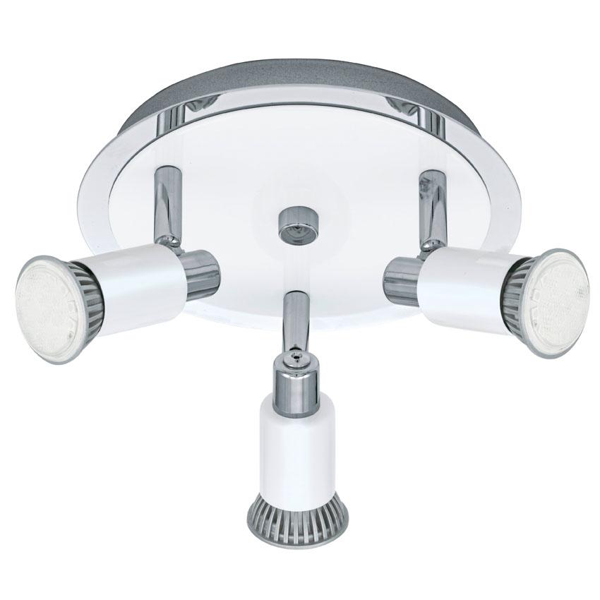 N/A – Eridan led hvid rund loftlampe m. 3 spots fra unoliving.com