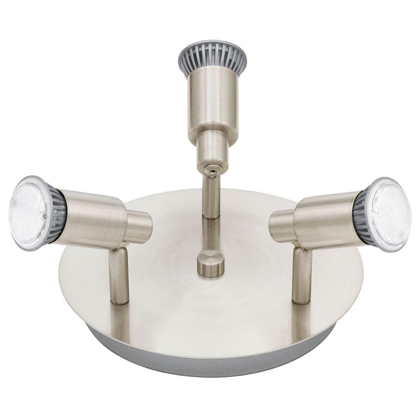 N/A – Eridan led stål rund loftlampe m. 3 spots på unoliving.com