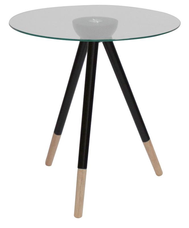 Canett – Canett fogy sidebord - glas m. sorte ben - ø45 fra unoliving.com