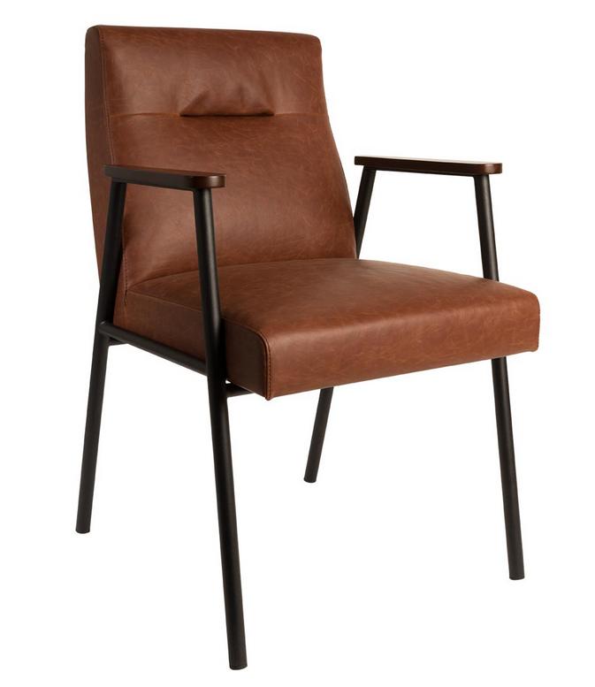 Dutchbone – Dutchbone - fez spisebordsstol - brun fra unoliving.com