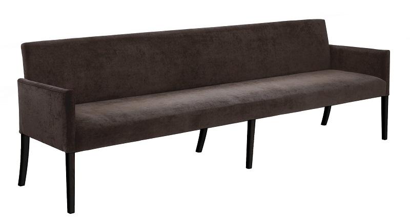 Canett Canett avery - 240 cm sofabænk - brun stof fra unoliving.com