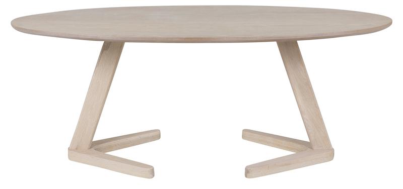 Ollie sofabord 120x60 - hvidolieret egefiner fra Canett fra unoliving.com