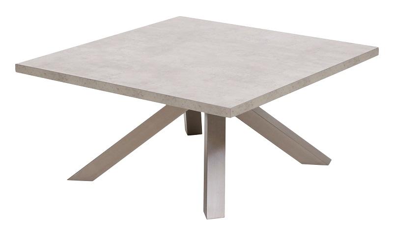 Canett Canett onyx sofabord - grå betonlook - 90x90 fra unoliving.com