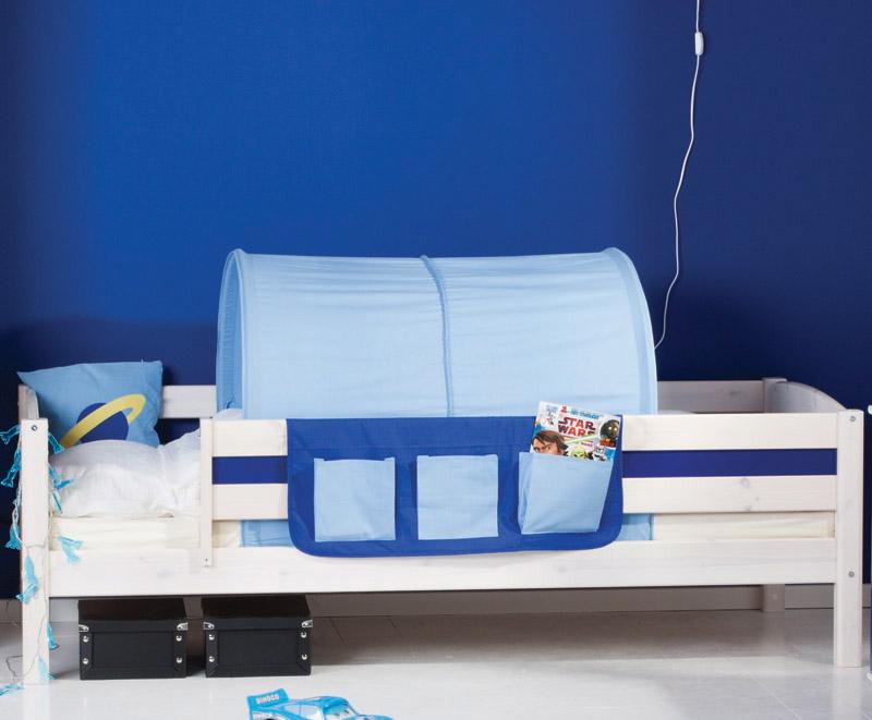 Flexa - space legetekstil lommer - blå fra Flexa på unoliving.com
