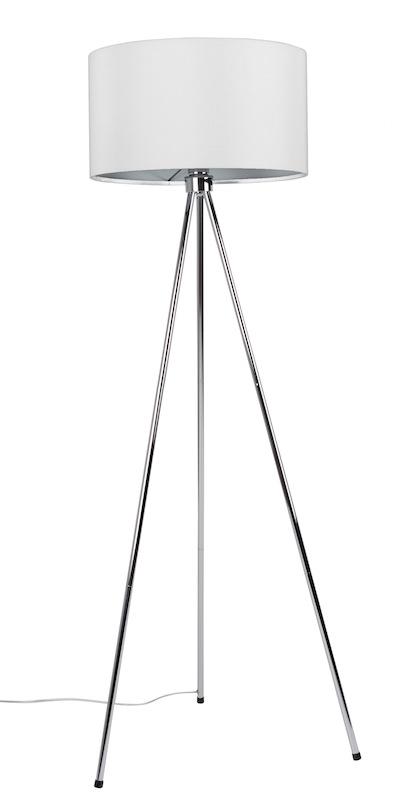 N/A – Homii gulvlampe - hvid krom på unoliving.com
