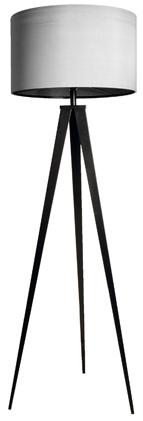 Zuiver Zuiver - tripod gulvlampe - grå/sort på unoliving.com